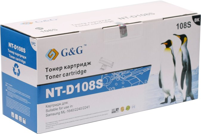 Картридж G&amp;G NT-D108S for Samsung ML-1640/2240/2241<br>