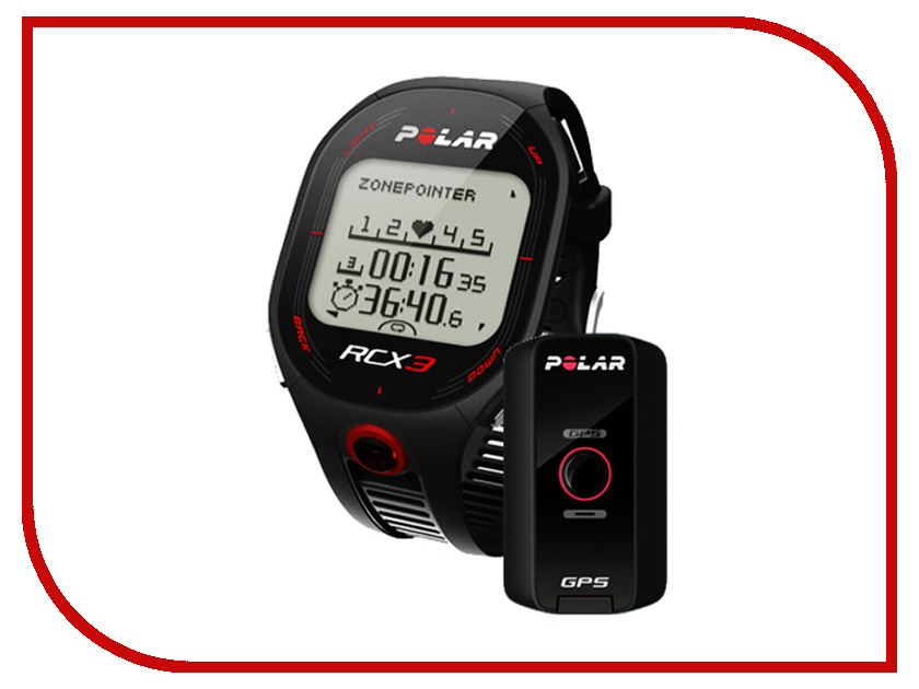 Пульсометр Polar RCX3M GPS - датчик Black<br>