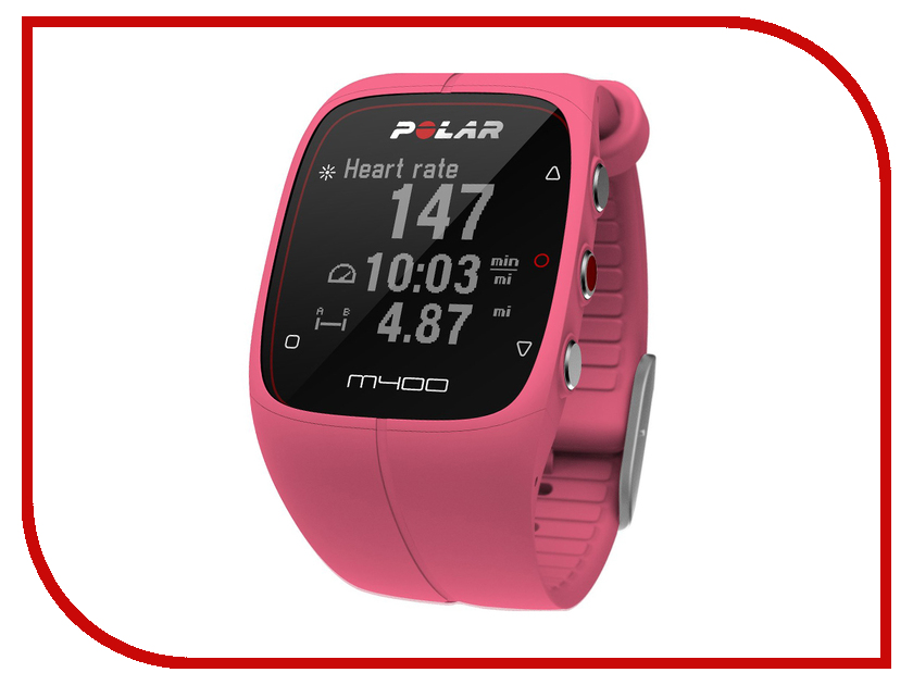 Пульсометр Polar M400 Pink<br>