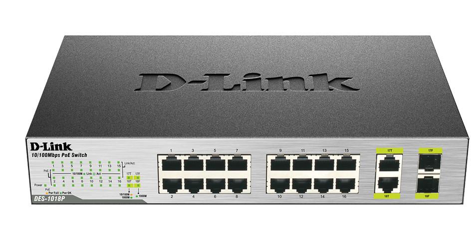 Коммутатор D-Link DES-1018P