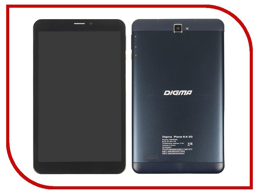 Планшет Digma Plane 8.6 3G MediaTek MT8321 1.3 GHz/1024Mb/8Gb/3G/GPS/Wi-Fi/Bluetooth/Cam/8.0/1280x800/Android 322041
