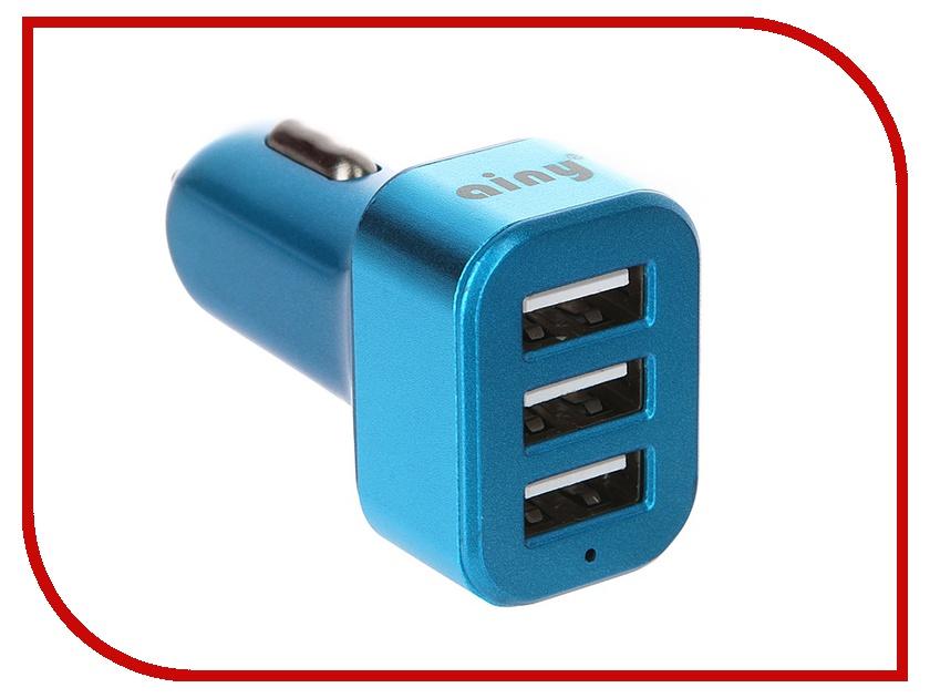 Зарядное устройство Ainy 3xUSB 3.1A EB-025N Blue eb pg935bbrgru