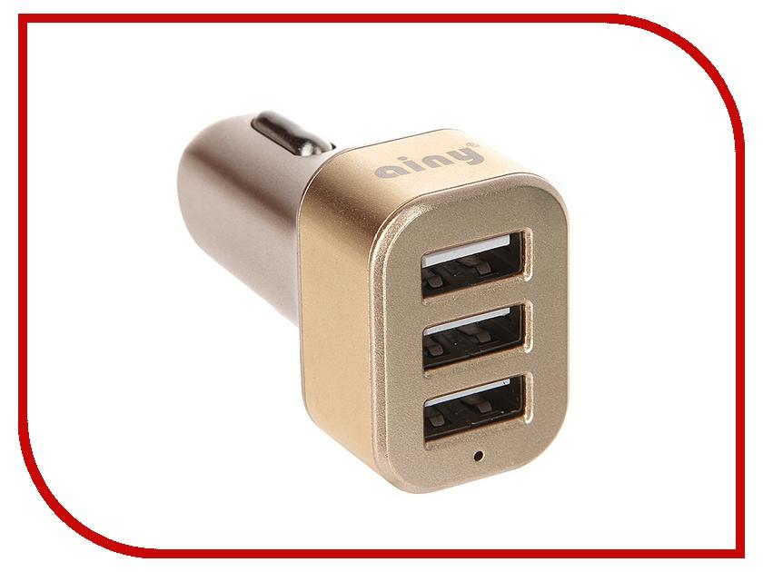 Зарядное устройство Ainy 3xUSB 3.1A EB-025L Gold eb pg935bbrgru