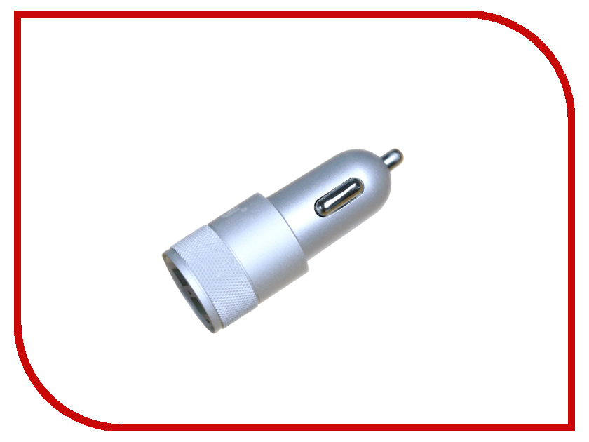 Зарядное устройство Ainy 2xUSB 1A/2.4A EB-018Q Silver<br>