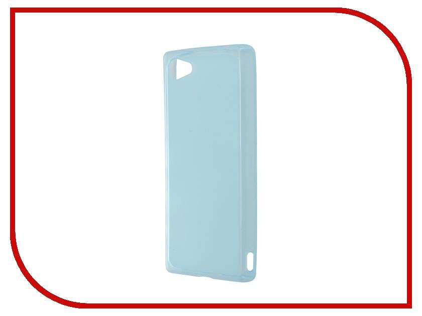 Аксессуар Чехол-накладка Sony Xperia Z5 Compact SkinBox Sheild Silicone Blue T-S-SXZ5C-005<br>