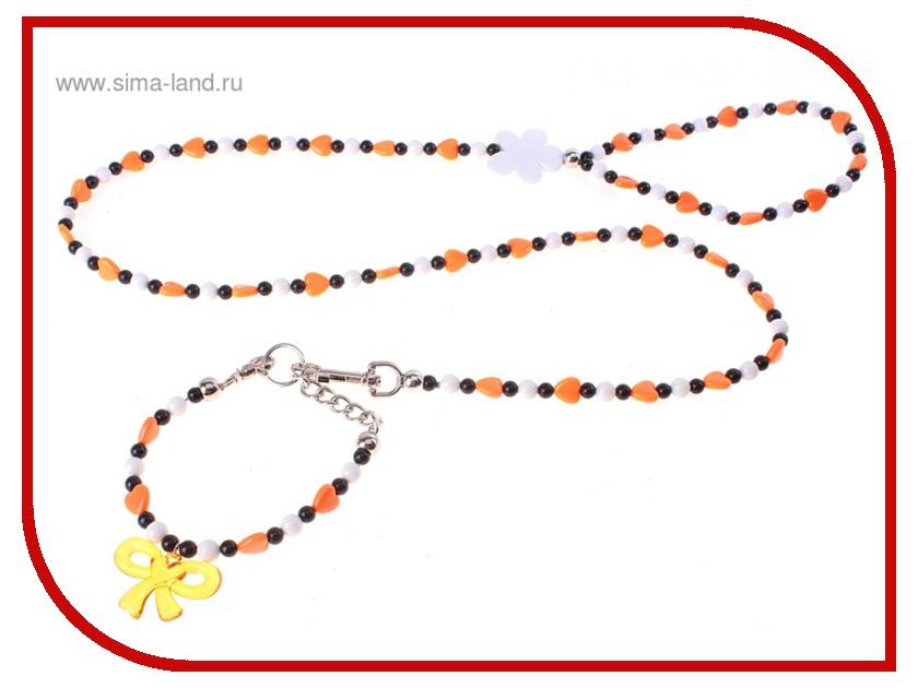 Поводок Пижон Птифур 613208 Orange