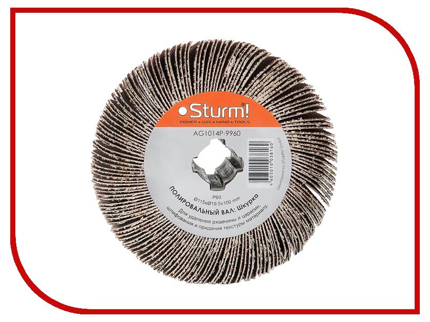 Диск Sturm! AG1014P-9960 щетка, шкурка P60, 115x19.5x100mm<br>