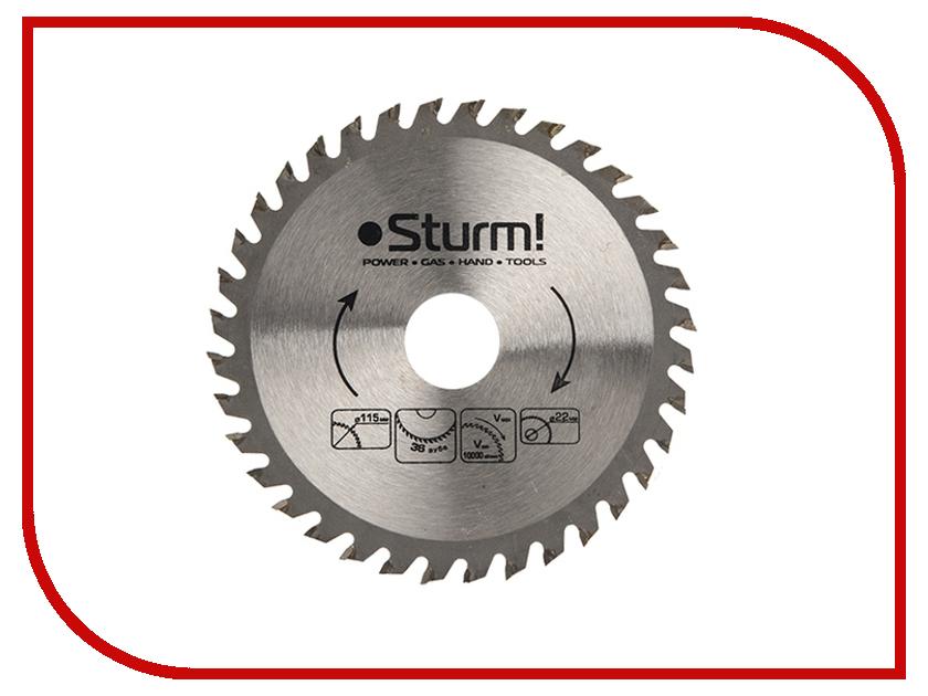 Диск Sturm! 9020-115-22-36T пильный, по дереву, 115x22mm, 36 зубьев<br>