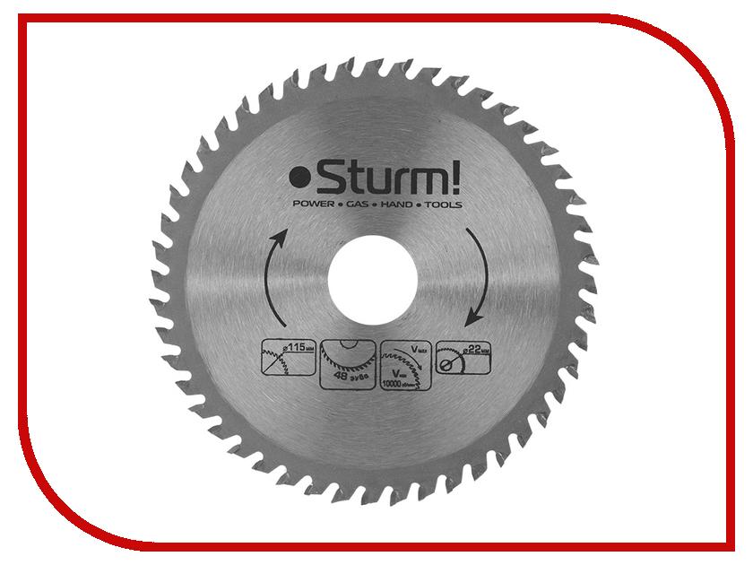 Диск Sturm! 9020-115-22-48T пильный, по дереву, 115x22mm, 48 зубьев<br>