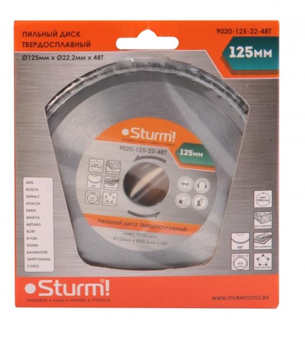 Диск Sturm! 9020-125-22-48T пильный, по дереву, 125x22mm, 48 зубьев