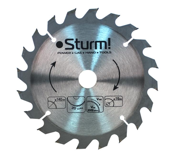 Диск Sturm! 9020-140-16-20T пильный, по дереву, 140x16mm, 20 зубов