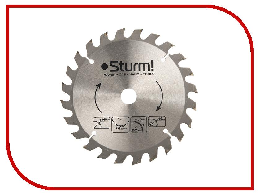 Диск Sturm! 9020-140-16-24T пильный, по дереву, 140x16mm, 24 зуба