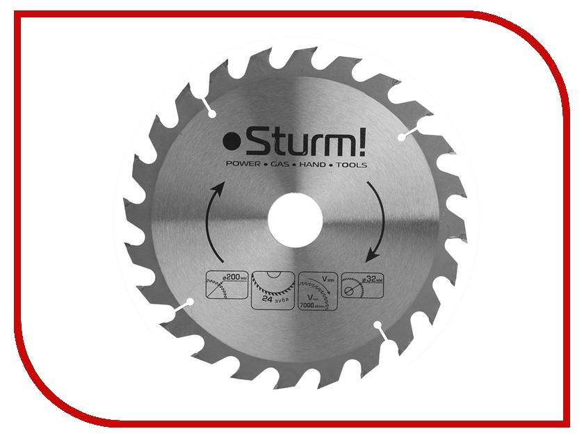 Диск Sturm! 9020-200-32-24T пильный, по дереву, 200x32mm, 24 зуба<br>