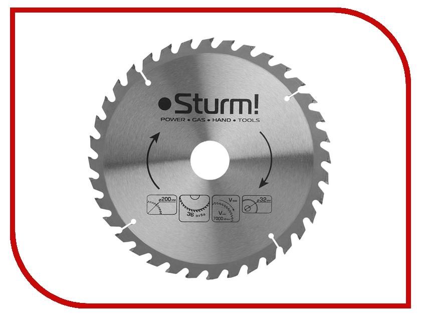 Диск Sturm! 9020-200-32-36T пильный, по дереву, 200x32mm, 36 зубьев