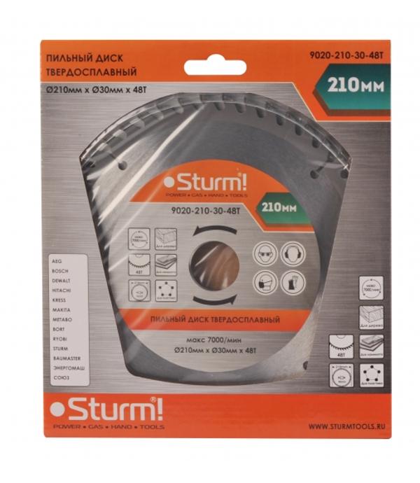 Диск Sturm! 9020-210-30-48T пильный, по дереву, 210x30mm, 48 зубьев