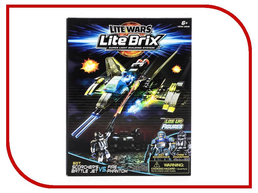 Игрушка Конструктор Lite Brix Военная битва. Звездолет 35838<br>