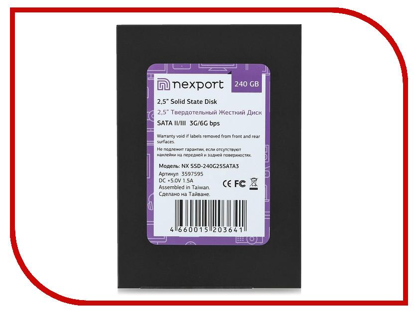 Жесткий диск 240Gb - Nexport NX SSD-240G25SATA3<br>