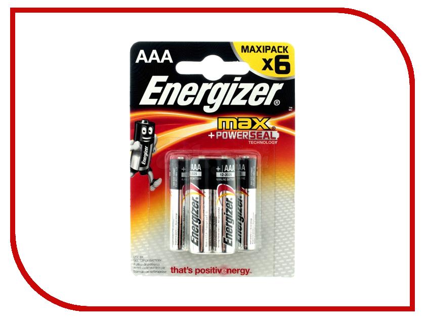 Батарейка AAA - Energizer LR03 Max E92 (6 штук) E300131700 батарейка aaa smartbuy lr03 40 bulk sbba 3a40s 40 штук