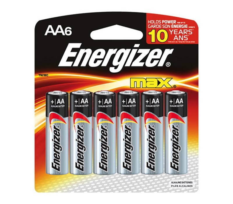 Батарейка AA - Energizer LR6/E91 Max (6 штук) E300132200 / 26036