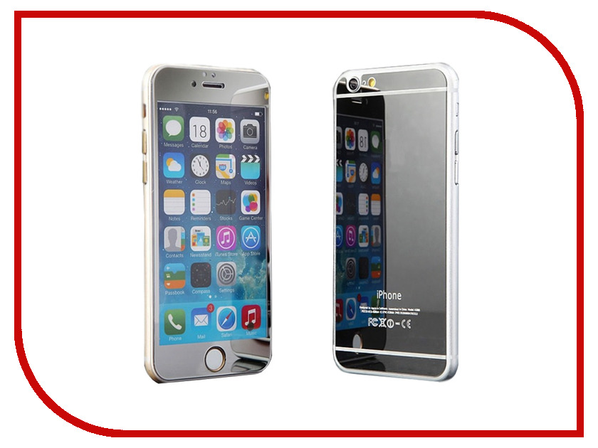 ��������� �������� ������ Activ Glass Diamond Front & Back ��� iPhone 6 Silver 49120