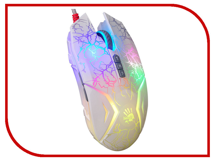 Мышь A4Tech Bloody N50 Neon White USB цена и фото