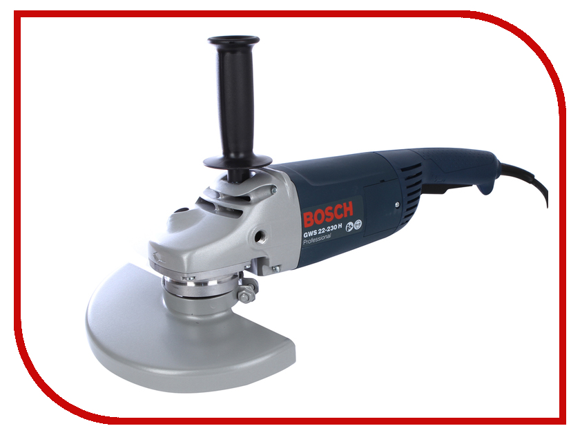 Шлифовальная машина Bosch GWS 22-230 H 0601882103 угловая шлифовальная машина bosch gws 20 230 h 0 601 850 107