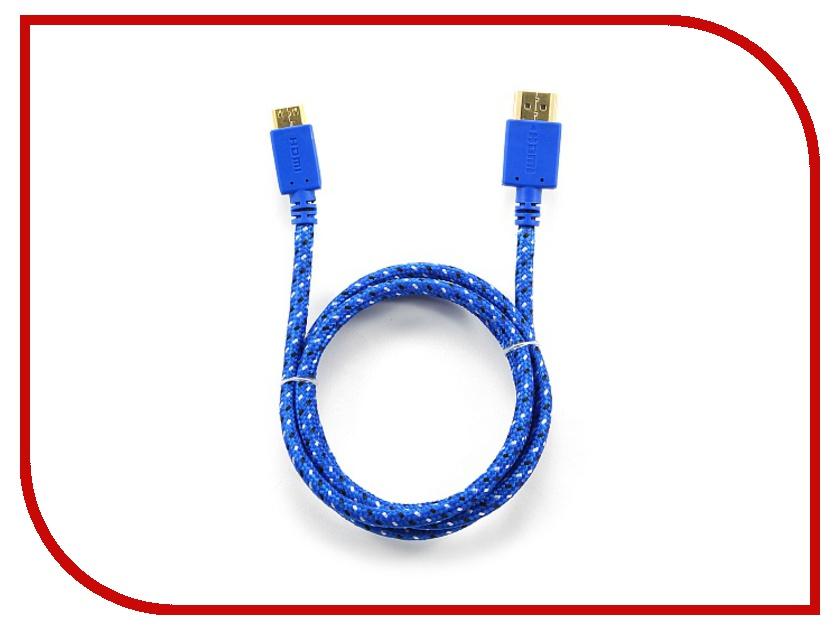 Аксессуар Konoos HDMI 19M - Mini HDMI 19M 1m v1.4 Blue KC-HDMICnbl<br>