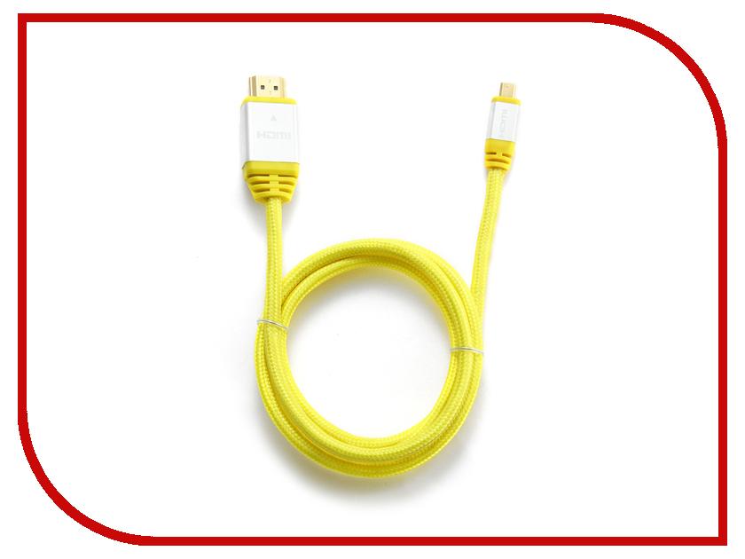 ��������� Konoos HDMI 19M - Micro HDMI 19M 1m v1.4 Yellow KCP-HDMIDny