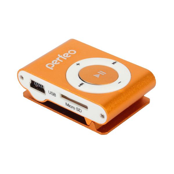 Плеер Perfeo VI-M001 Music Clip Titanium Orange mp3 плеер perfeo music i sonic silver vi m011 silver