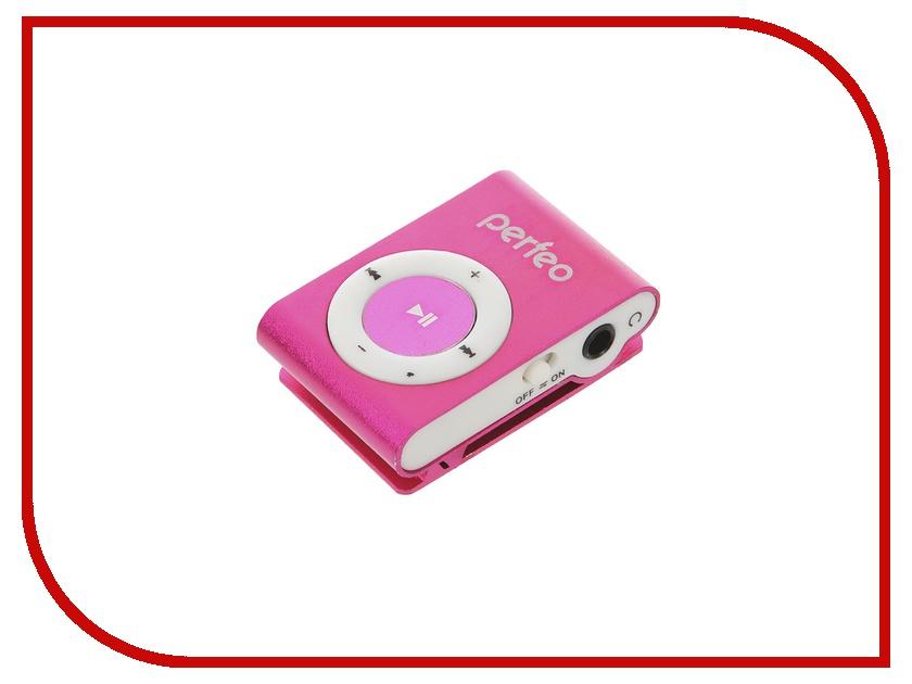 Плеер Perfeo VI-M001 Music Clip Titanium Pink flash mp3 плеер perfeo music clip titanium vi m001 4gb blue