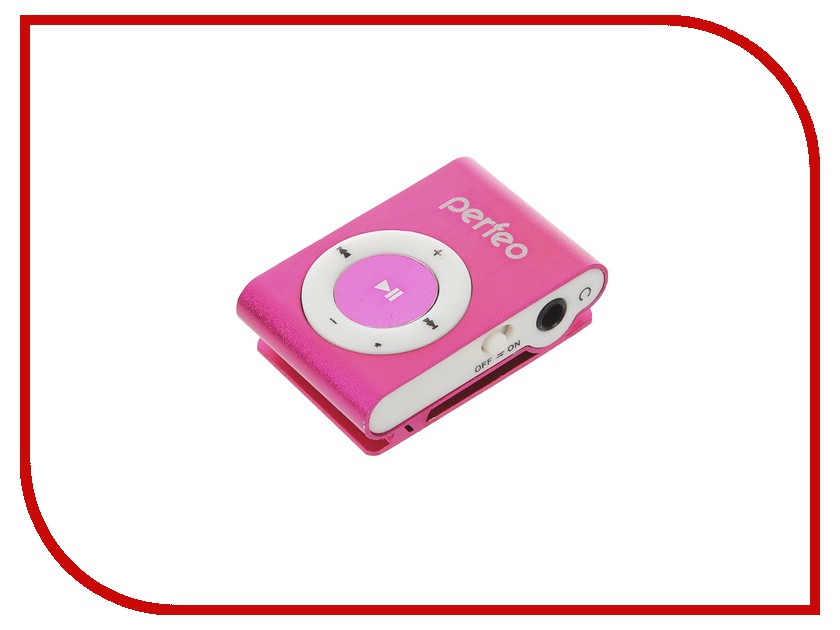 Плеер Perfeo VI-M001 Music Clip Titanium Pink цифровой аудио плеер perfeo music clip titanium серебрянный vi m001 silver