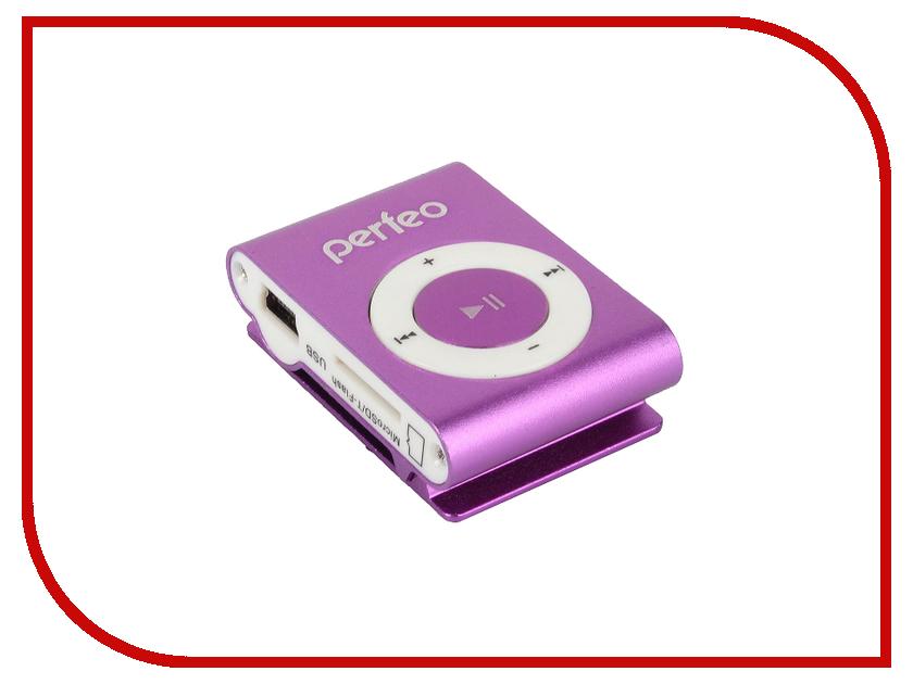 Плеер Perfeo VI-M001 Music Clip Titanium Purple плеер perfeo vi m001 music clip titanium silver