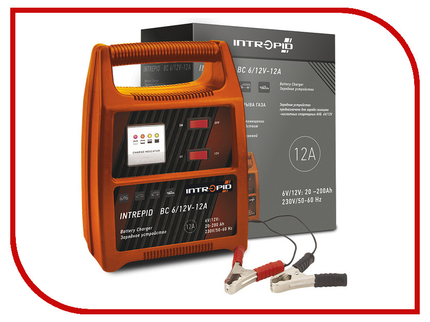 Зарядное устройство для автомобильных аккумуляторов Intrepid BC 6/12V-12A 01.54.128