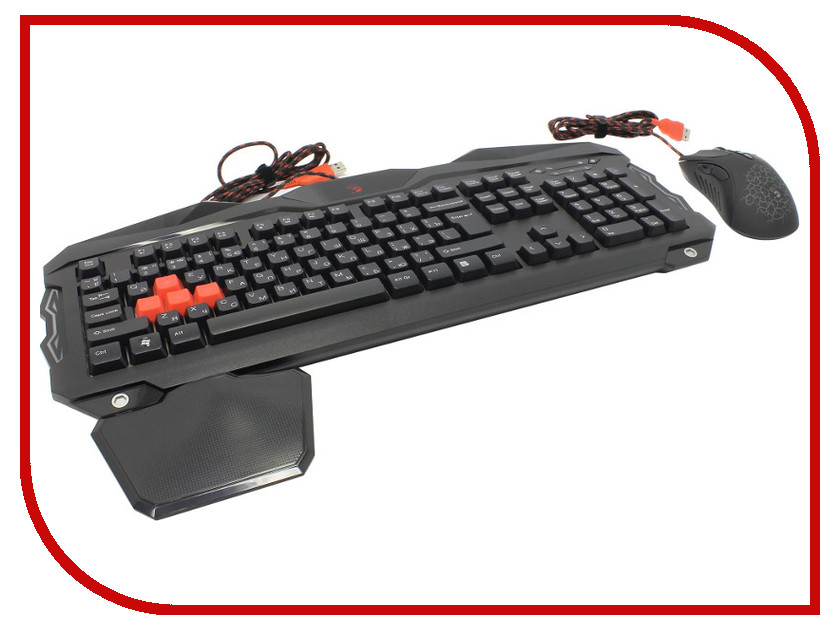 лучшая цена Набор A4Tech Bloody Q2100/B2100 USB Black