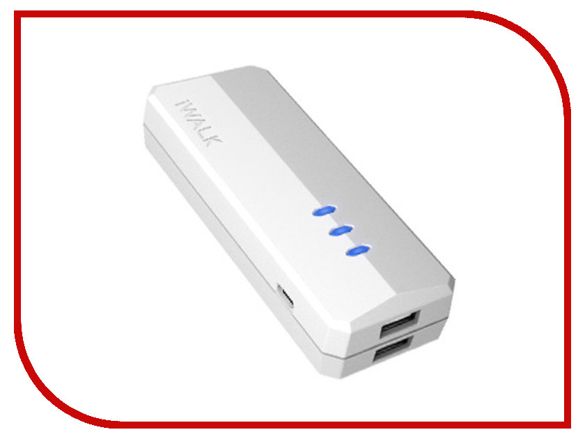 Аккумулятор iWalk Supreme 5200 mAh DUO 100131st White<br>