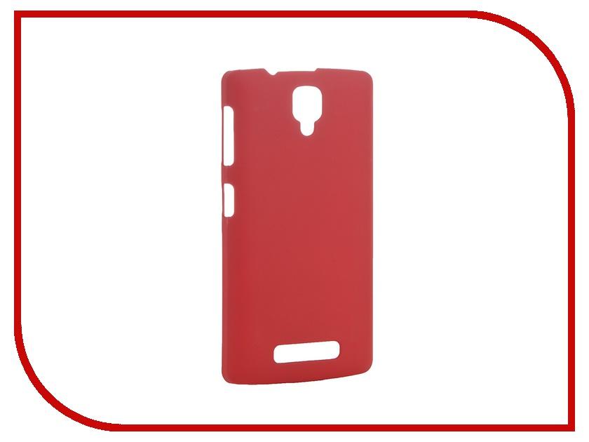 Аксессуар Чехол-накладка Lenovo A1000 Pulsar Clipcase PC Soft-Touch Red PCC0176<br>