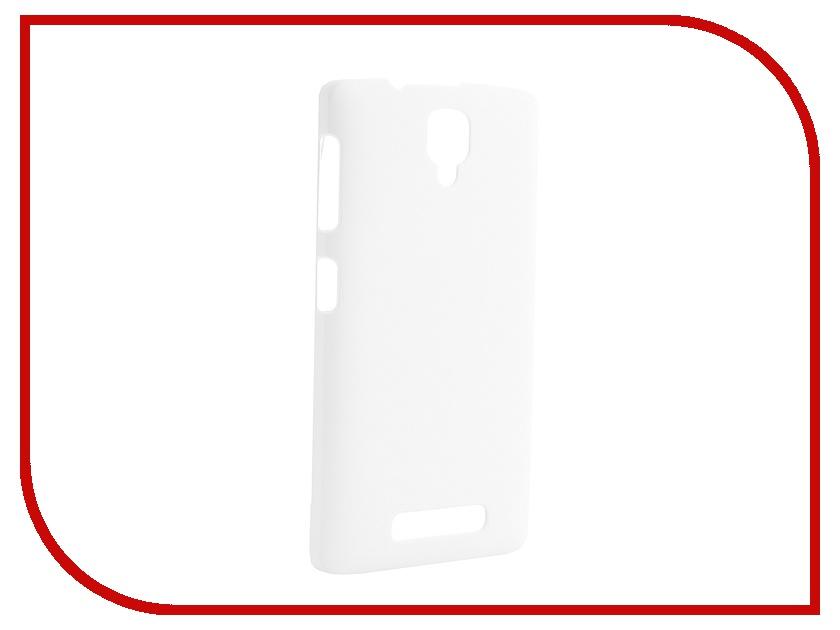 Аксессуар Чехол-накладка Lenovo A1000 Pulsar Clipcase PC Soft-Touch White PCC0175<br>