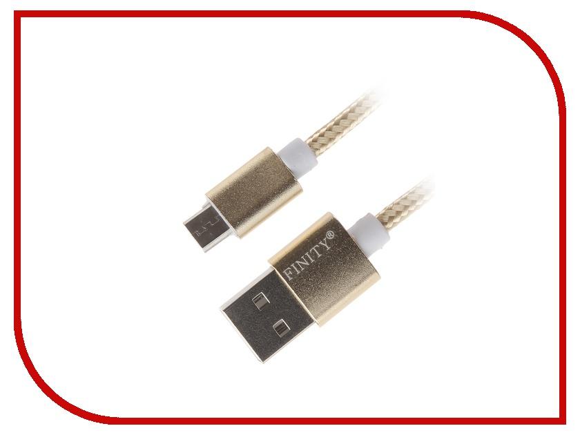 Аксессуар Finity USB - MicroUSB FUM-03 1.2m Gold<br>