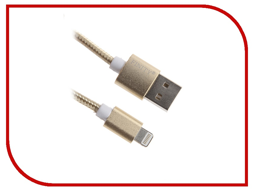 Аксессуар Finity Lightning to USB Cable FUL-03 1.2m Gold