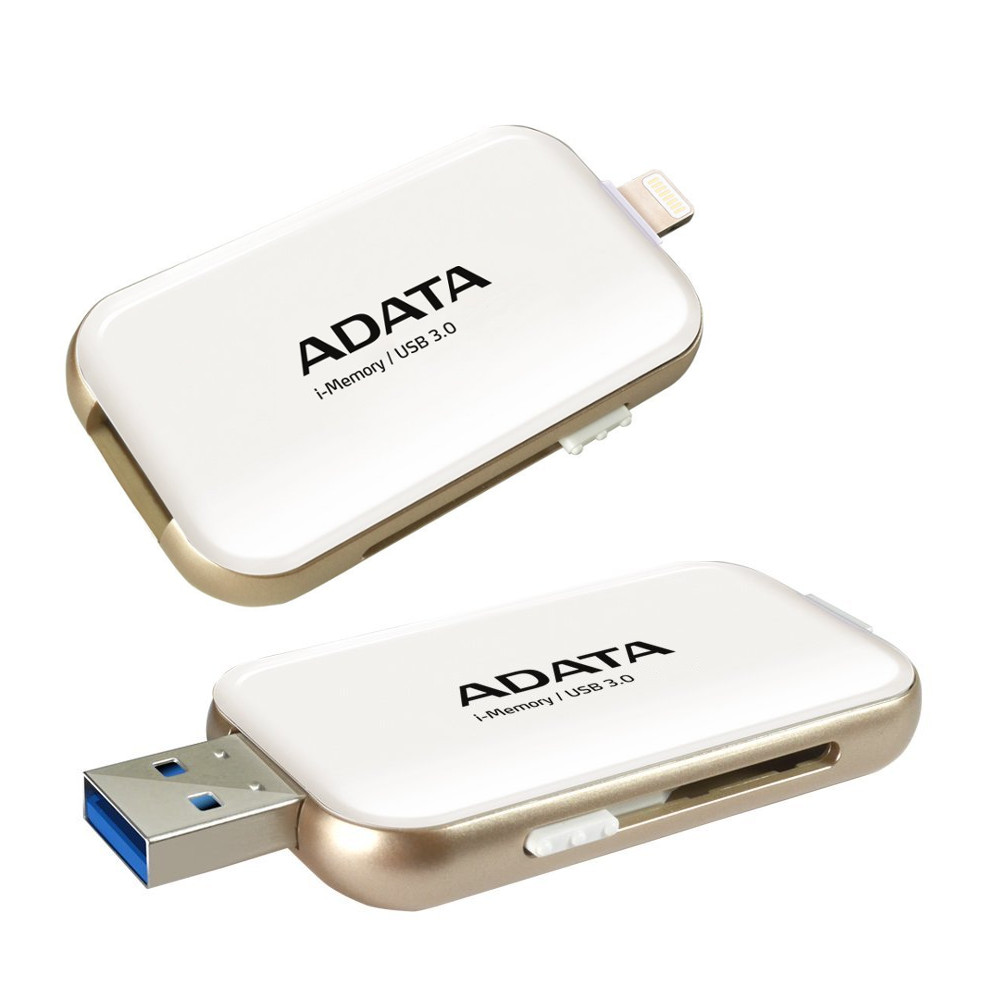 USB Flash Drive 128Gb - A-Data i-Memory Elite UE710 White AUE710-128G-CWH<br>