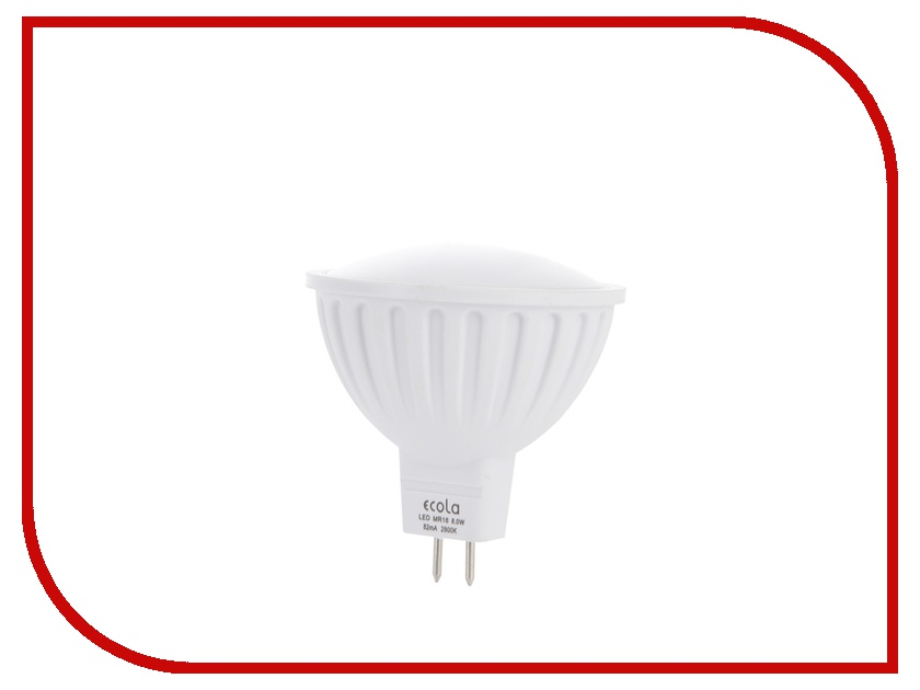 Лампочка Ecola MR16 LED GU5.3 8W 220V 2800K матовое стекло M2RW80ELC<br>