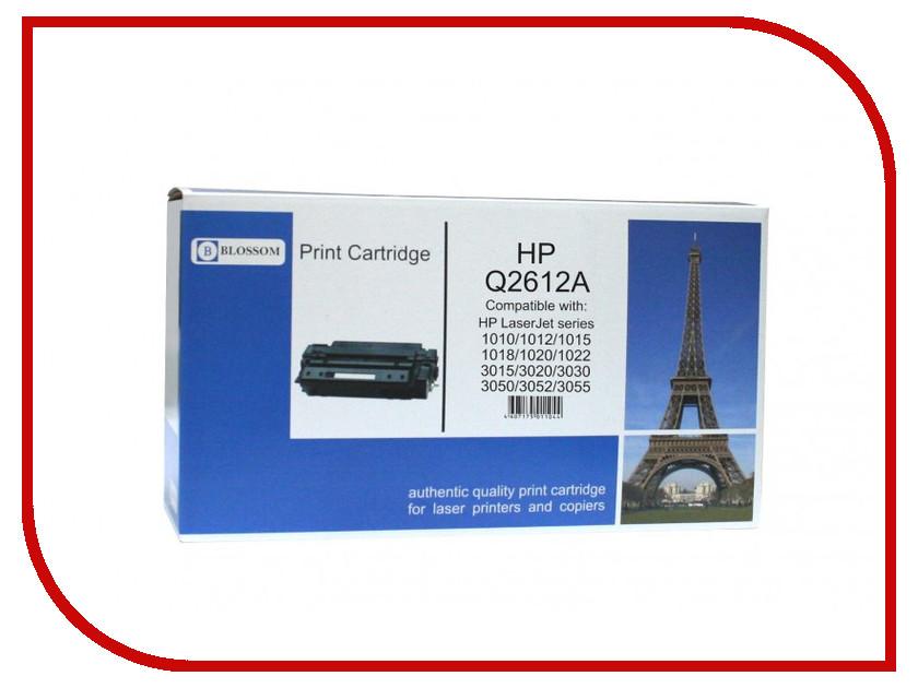 Картридж Blossom BS-HPQ2612A Black for HP LJ 1010/1012/1015/1018/3015/3020/3030/3050/3052/3055<br>