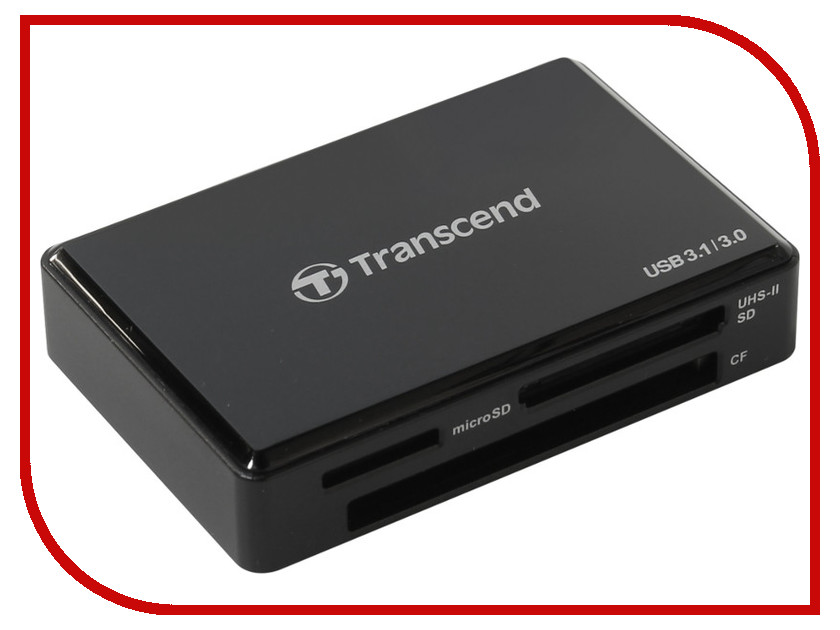 Карт-ридер Transcend TS-RDF9K карт ридер transcend multy card reader usb 3 0 ts rdf8k black