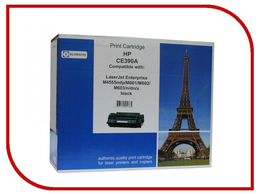 Картридж Blossom BS-HPCE390A Black for HP LaserJet Enterprise M4555mfp/M601/M602/M603/n/dn/x<br>