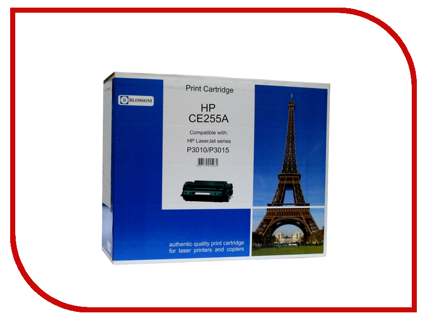 Картридж Blossom BS-HPCE255A Black for HP LaserJet P3010/P3015<br>