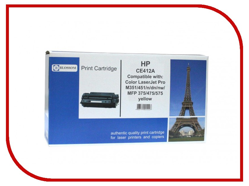 Картридж Blossom BS-HPCE412A Yellow for HP Color LaserJet Pro M351/451/n/dn/nw/MFP 375/475/575<br>