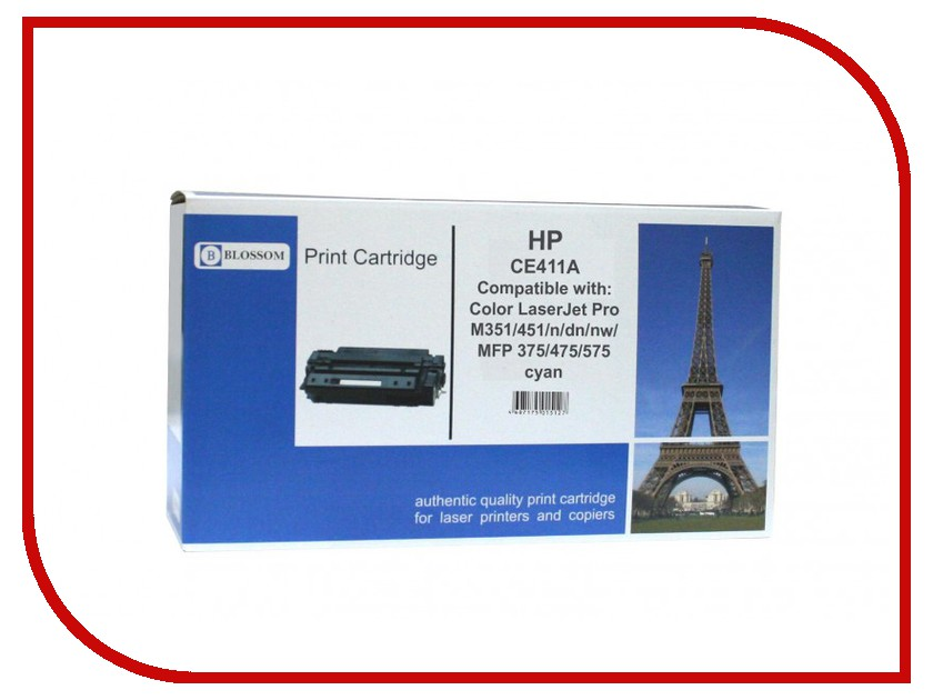 Картридж Blossom BS-HPCE411A Cyan for HP Color LaserJet Pro M351/451/n/dn/nw/MFP 375/475/575