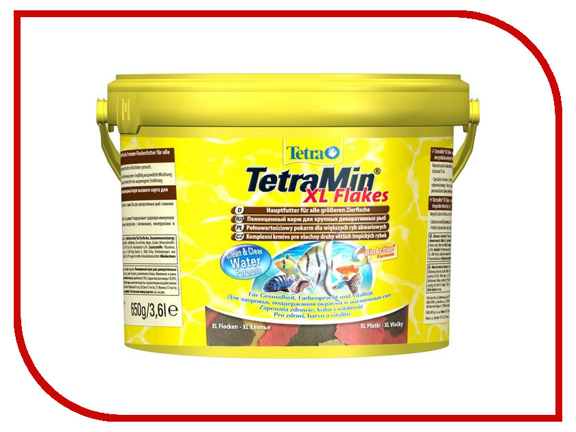 Корм Tetra TetraMin 3.6l для декоративных аквариумных рыб Tet-193789 корм tetra tetramin xl flakes complete food for larger tropical fish крупные хлопья для больших тропических рыб 10л 769946