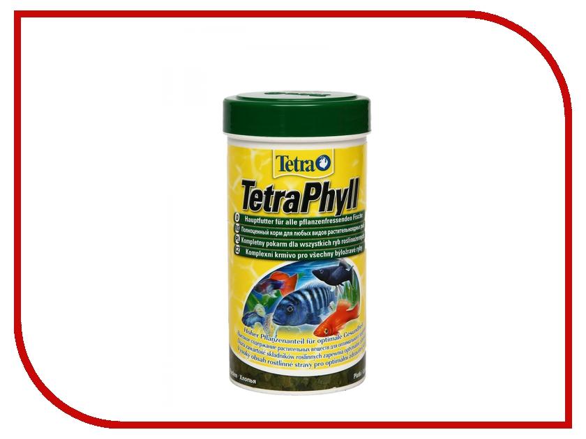 Корм Tetra TetraPhyll 250ml для травоядных рыб Tet-139923 корм tetra tetramin xl flakes complete food for larger tropical fish крупные хлопья для больших тропических рыб 10л 769946