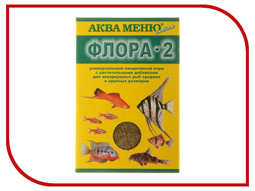 Аква Меню Флора-2 30 гр для многих групп рыб 650522 корм для рыб аква меню флора 2 с растительными добавками для рыб средних размеров 30 г